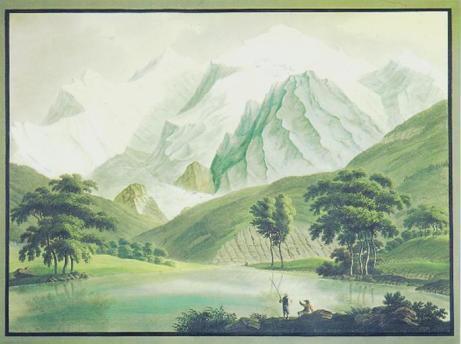 H. Bleuler, Vue du Mont Blanc, c. 1820-30