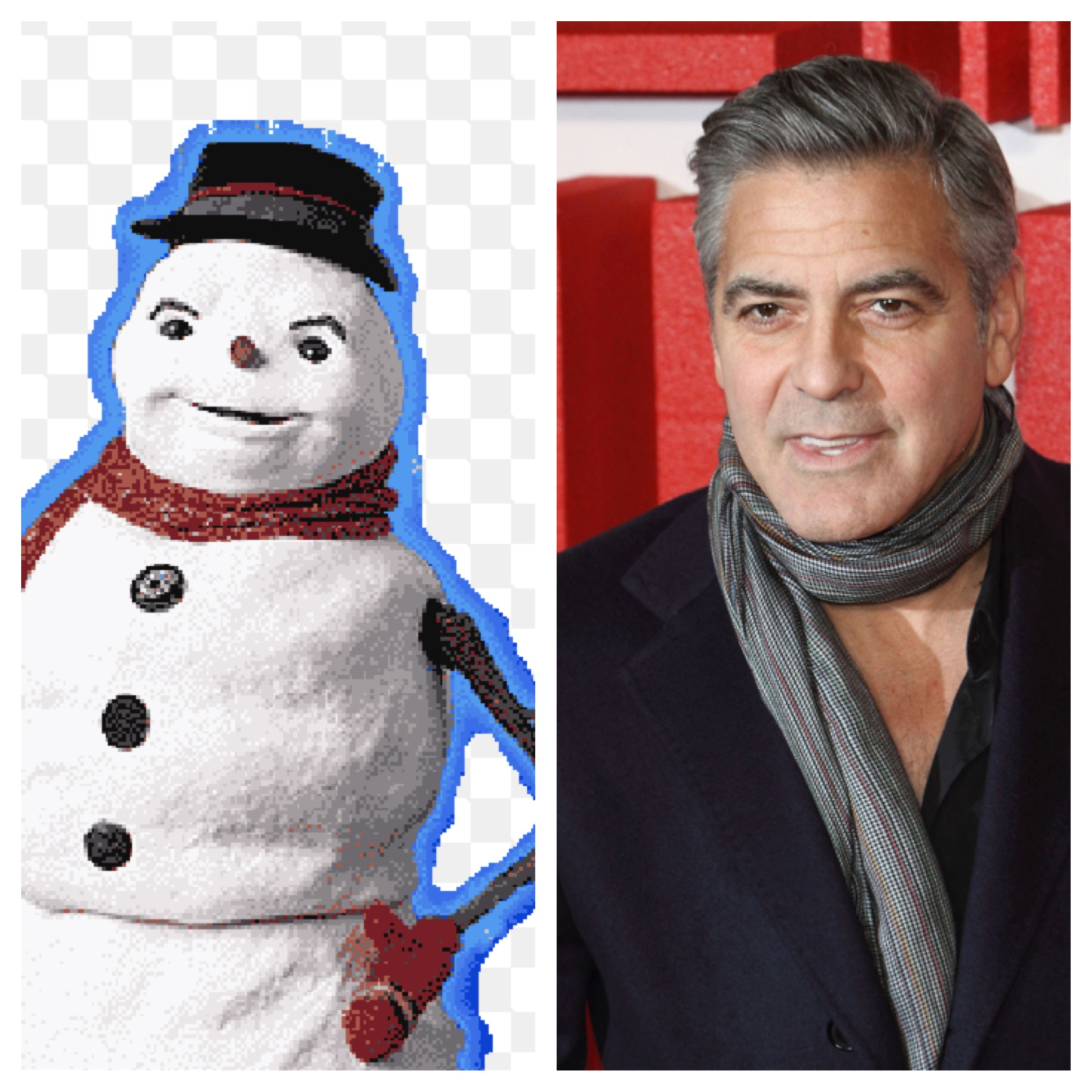 The snowmanjack frost mr freeze frosty andwhy the fuck not the essential question did they change the snowman costume after clooney was off board one blogger says yes clooney leaving the project caused headaches solutioingenieria Choice Image